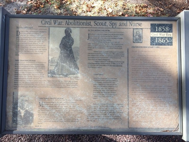 Civil War: Abolitionist, Scout, Spy and Nurse Marker image. Click for full size.