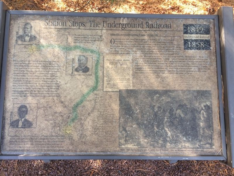 Station Stops: The Underground Railroad Marker image. Click for full size.
