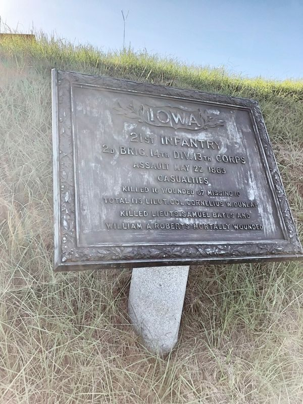 Iowa 21st Infantry Marker image. Click for full size.