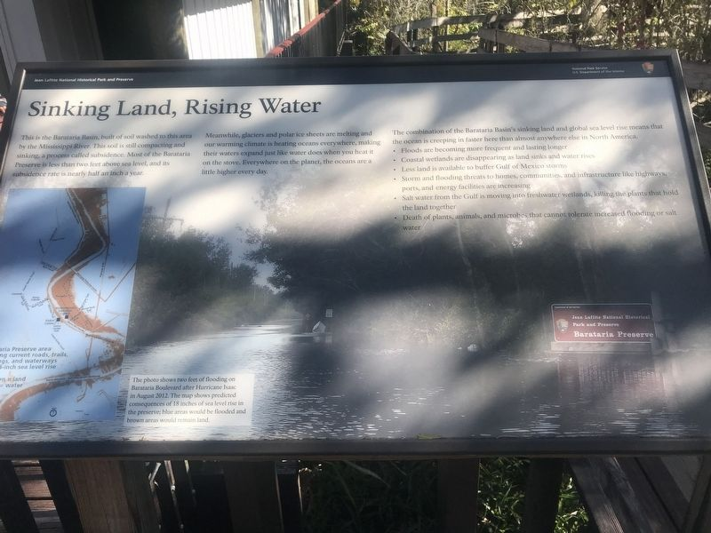 Sinking Land, Rising Water Marker image. Click for full size.