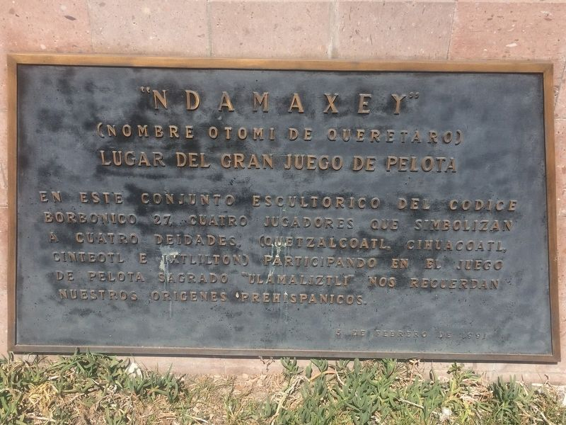 Ndamaxey, the Great Ball Game Marker image. Click for full size.