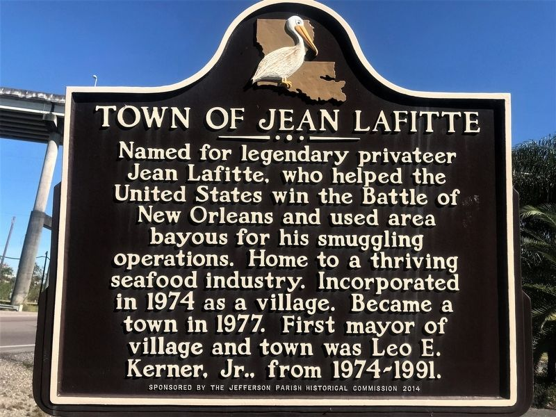 Town of Jean Lafitte Marker image. Click for full size.
