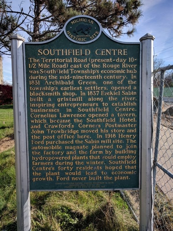 Southfield Centre Marker image. Click for full size.