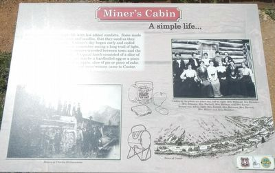 Miner's Cabin Marker image. Click for full size.