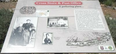 Cross Store & Post Office (site) Marker image. Click for full size.
