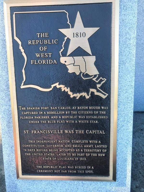 The Republic of West Florida Marker image. Click for full size.
