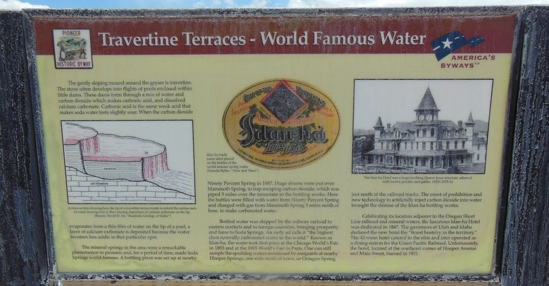 Travertine Terraces - World Famous Water Marker image. Click for full size.