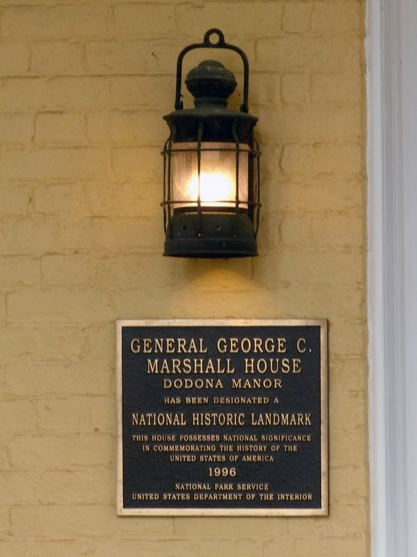General George C. Marshall House Dodona Manor Marker image, Touch for more information