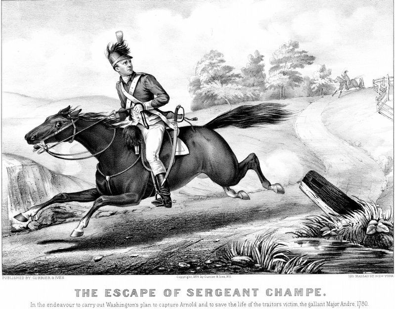 The Escape of Sergeant Champe. image. Click for full size.
