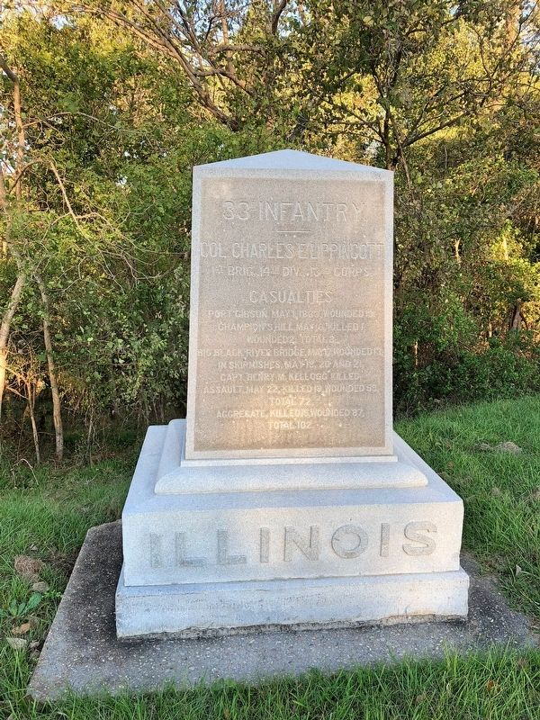 Illinois 33D Infantry Marker image. Click for full size.