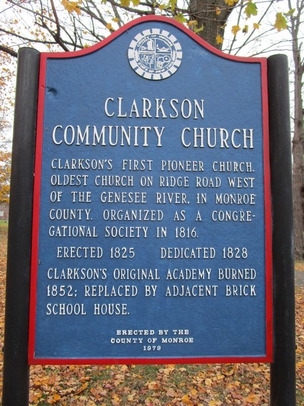 Clarkson Community Church Marker image. Click for full size.
