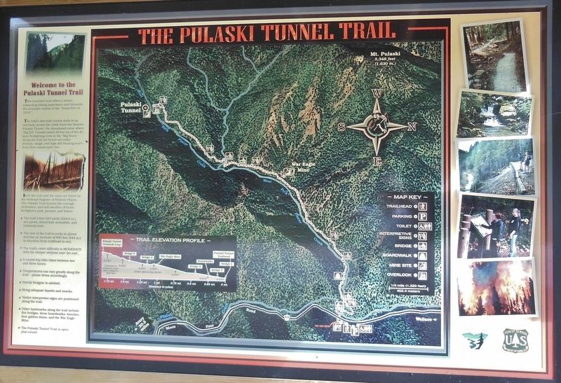 The Pulaski Tunnel Trail Marker image. Click for full size.