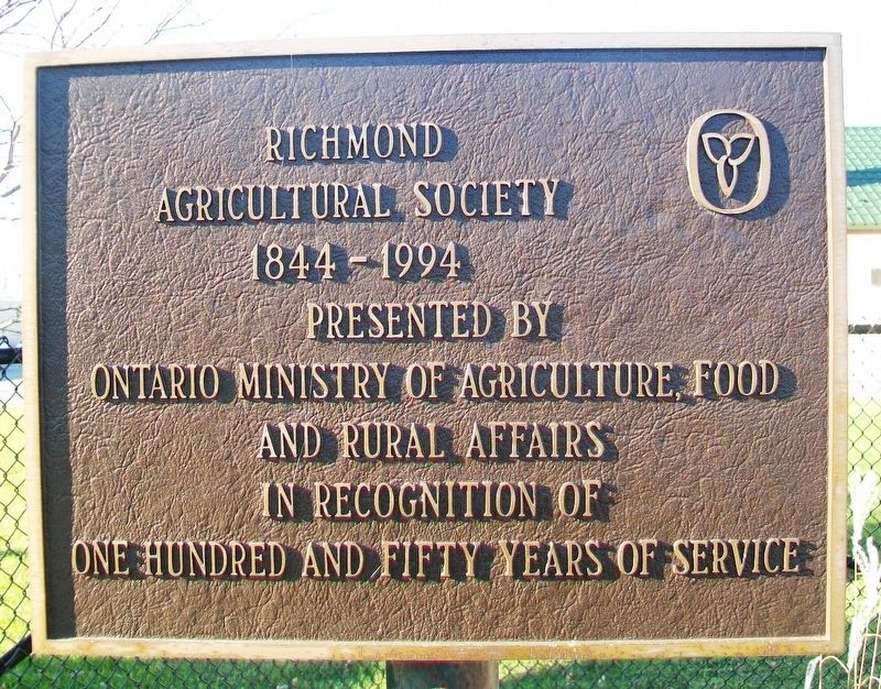 Richmond Agricultural Society Marker image. Click for full size.