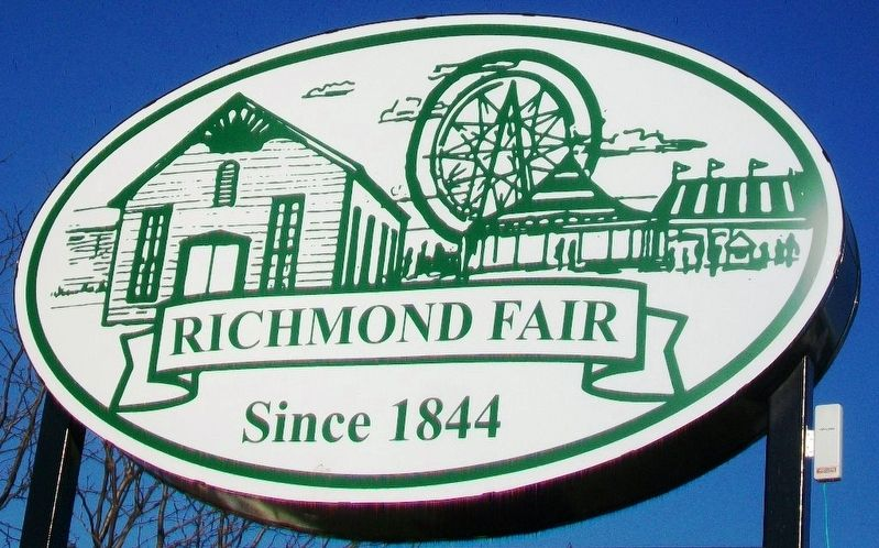 Richmond Fairgrounds Sign image. Click for full size.