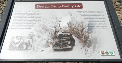 Dredge Camp Family Life Marker image. Click for full size.