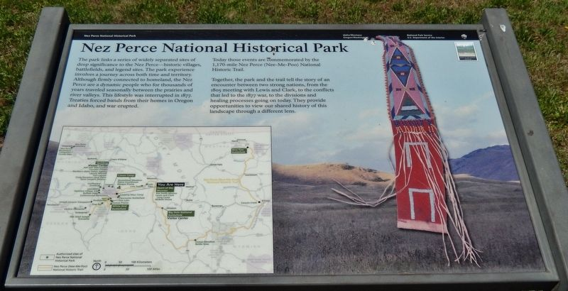 Nez Perce National Historical Park Marker image. Click for full size.