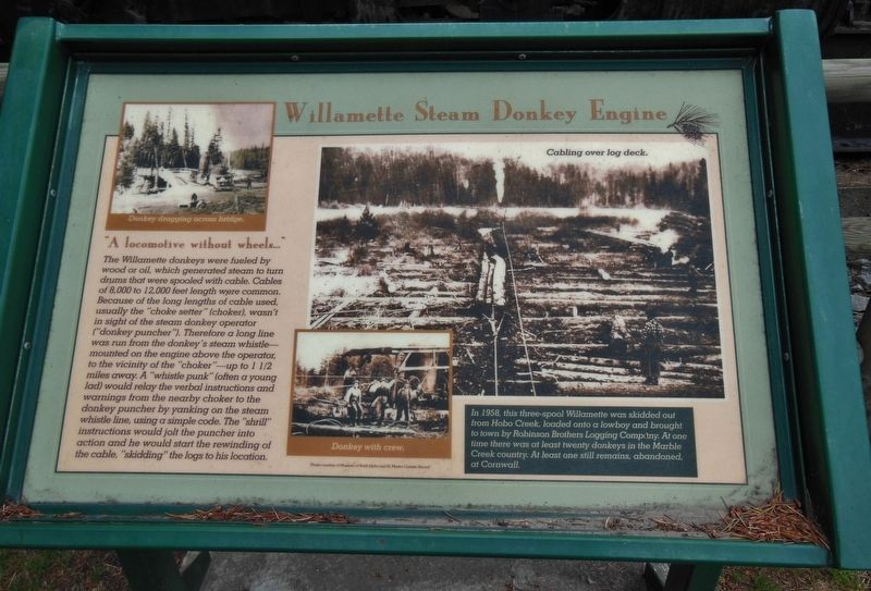 Willamette Steam Donkey Engine Marker image. Click for full size.