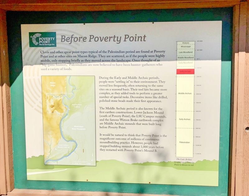 Before Poverty Point Marker image. Click for full size.