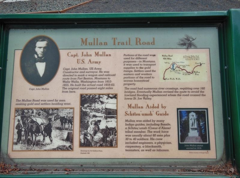 Mullan Trail Road Marker image. Click for full size.