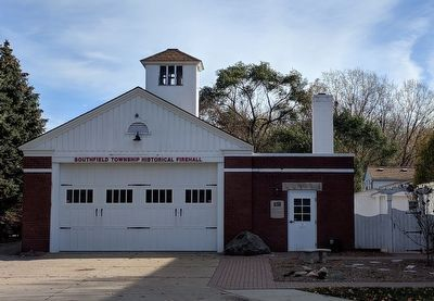 Southfield Township Volunteer Fire Department and Marker image. Click for full size.