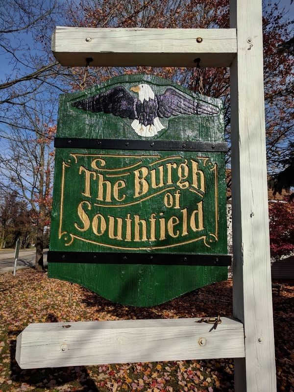 The Burgh of Southfield Sign image. Click for full size.