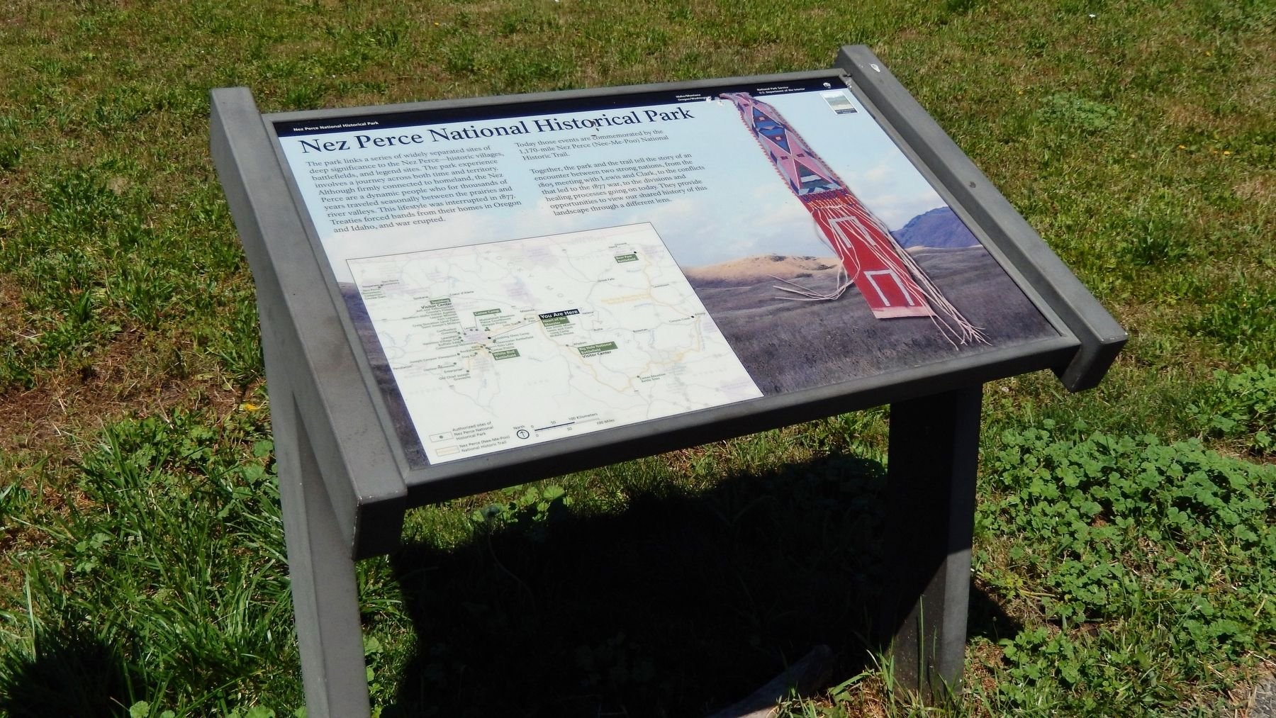 Nez Perce National Historical Park Marker (<i>wide view</i>) image. Click for full size.