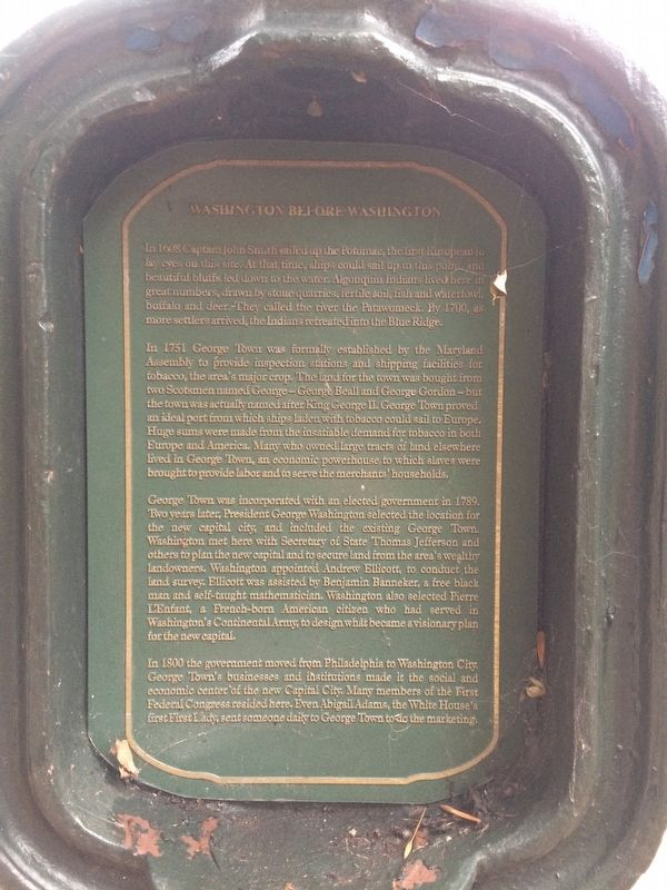 Washington Before Washington Marker Front image. Click for full size.