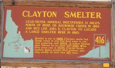 Clayton Smelter Marker image. Click for full size.