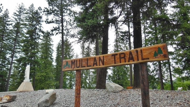 Mullan Trail Park sign image. Click for full size.