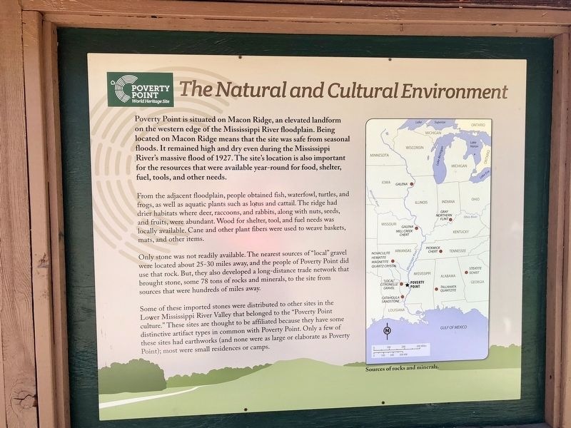 The Natural and Cultural Environment Marker image. Click for full size.
