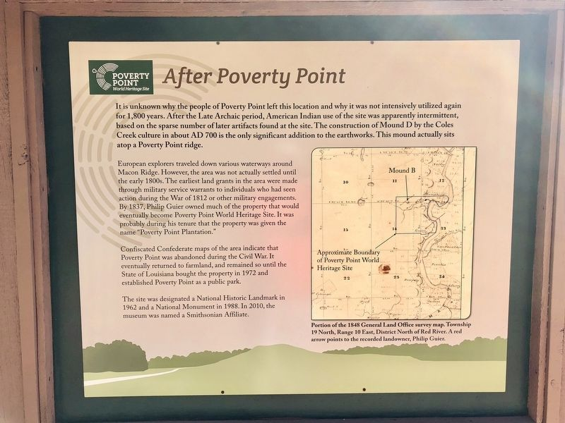 After Poverty Point Marker image. Click for full size.