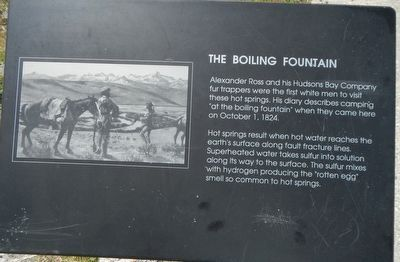 The Boiling Fountain Marker image. Click for full size.