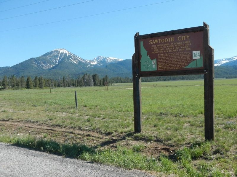 Sawtooth City Marker image. Click for full size.