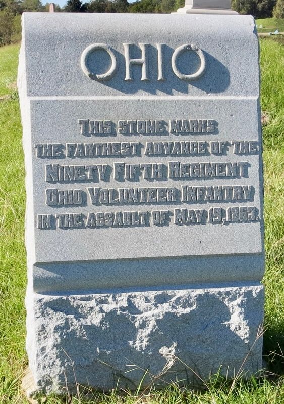 Ohio Ninety Fifth Regiment Marker image. Click for full size.
