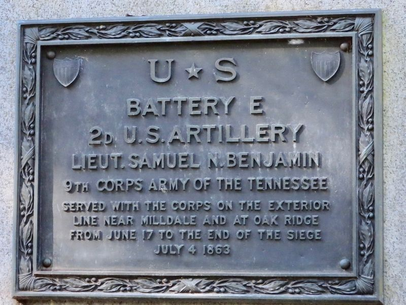 U ☆ S Battery E Marker image. Click for full size.