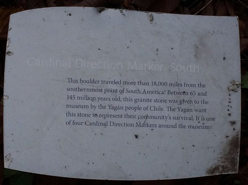 Cardinal Direction Marker: South Marker image. Click for full size.