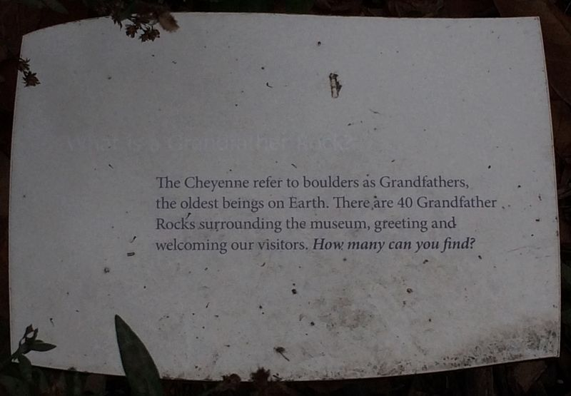 What is a Grandfather Rock? Marker image. Click for full size.