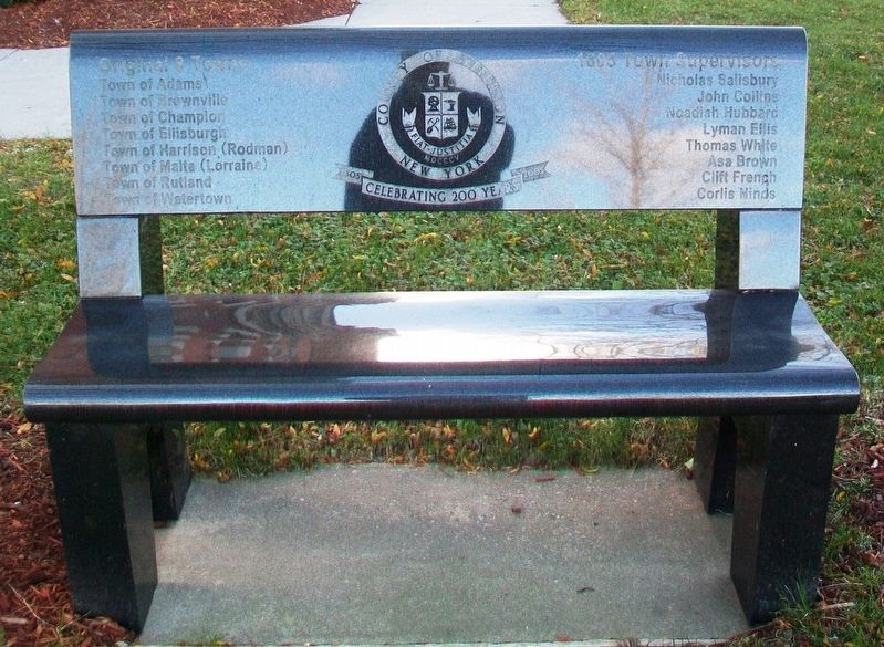 County of Jefferson: Celebrating 200 Years Commemorative Bench image. Click for full size.