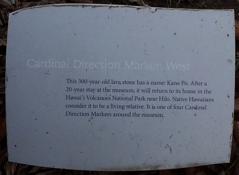 Cardinal Direction Marker: West Marker image. Click for full size.
