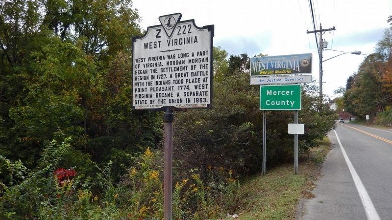 West Virginia Marker Side (<i>wide view from south</i>) image. Click for full size.