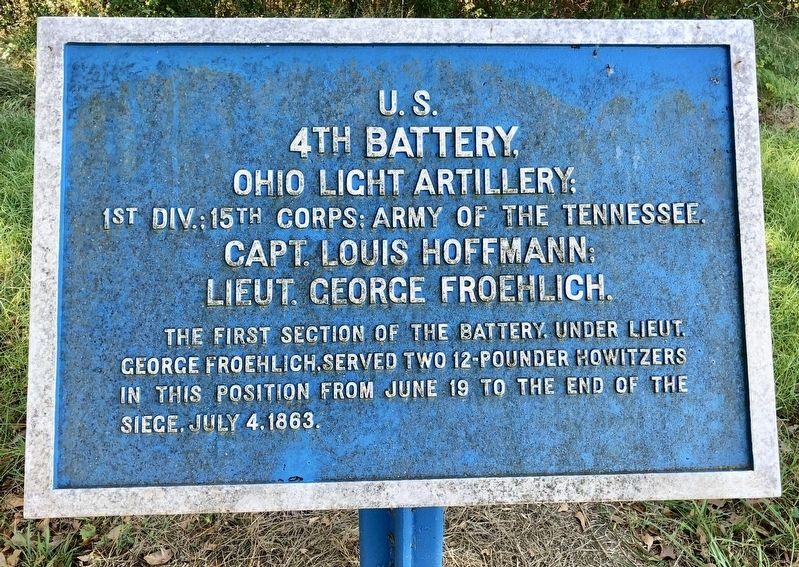 <small>U.S.</small> 4th Battery, Marker image. Click for full size.