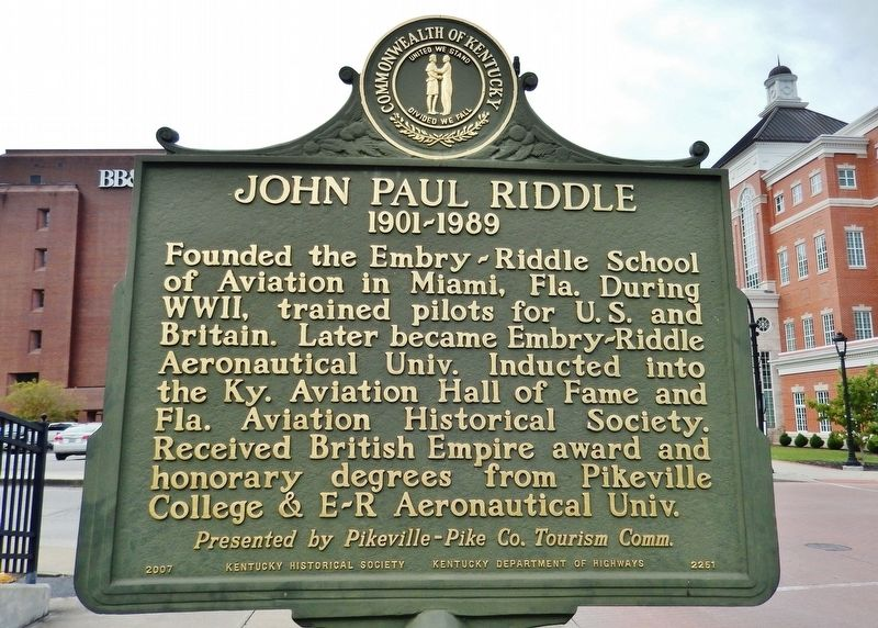 John Paul Riddle Marker (<i>side 2</i>) image. Click for full size.