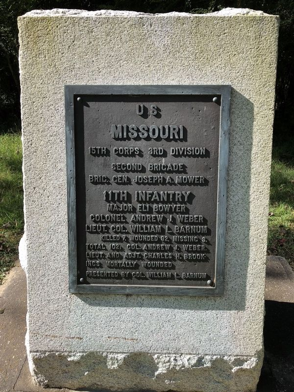 <small>U S </small> Missouri 11th Infantry Marker image. Click for full size.