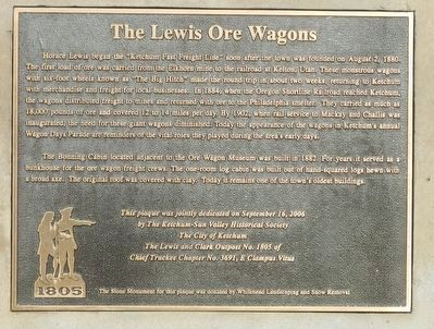The Lewis Ore Wagons Marker image. Click for full size.