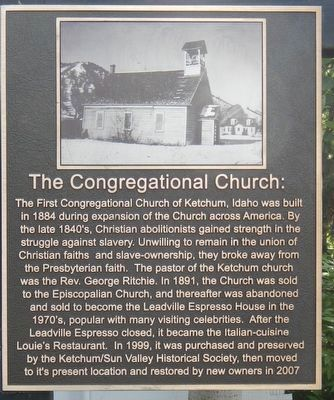 The Congregational Church Marker image. Click for full size.