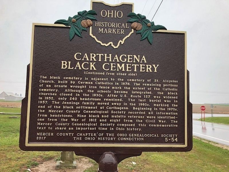 Carthagena Black Cemetery Marker image. Click for full size.