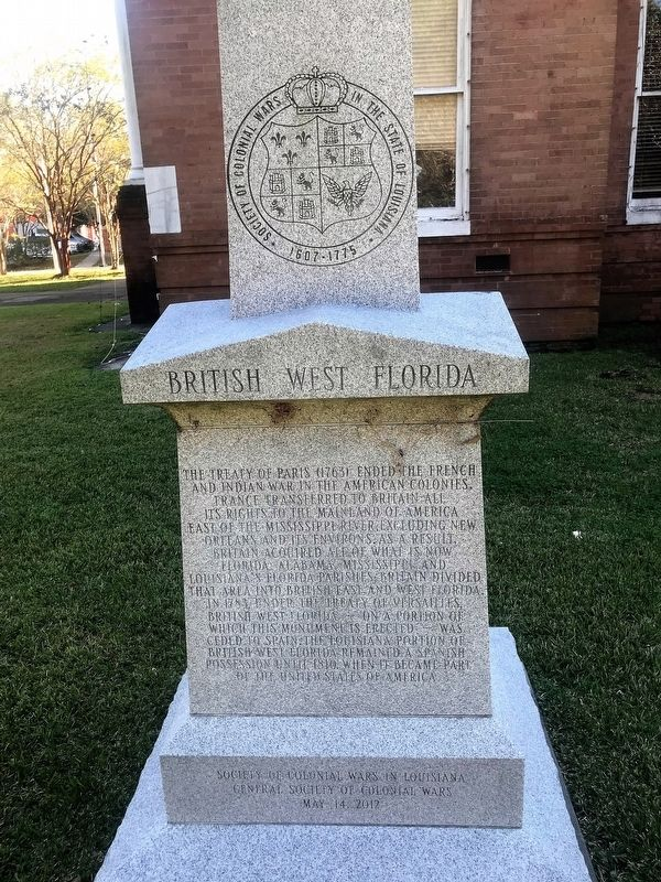 British West Florida Marker image. Click for full size.