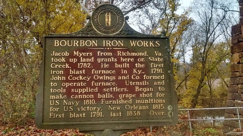 Bourbon Iron Works Marker image. Click for full size.