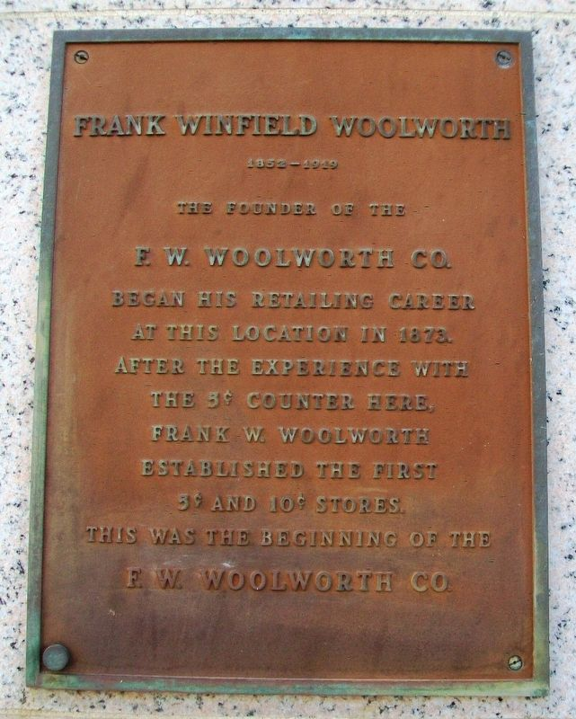 Frank Winfield Woolworth Marker image. Click for full size.