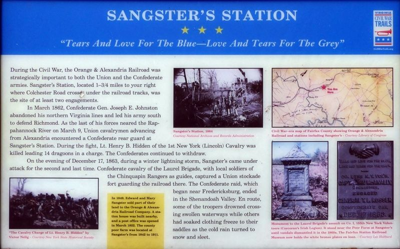 Sangster's Station Marker image. Click for full size.